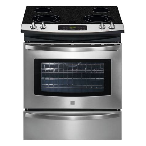 Electric Cooktop Range kenmore 46783 30 quot self clean slide in electric range w ceramic smoothtop cooktop