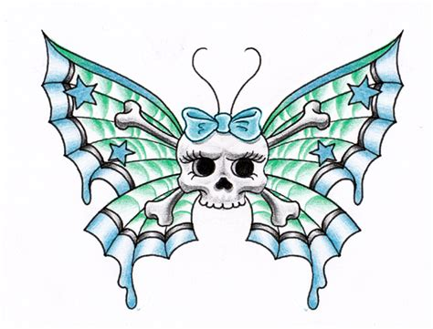 butterfly and skull tattoo designs skull butterfly by themangaline on deviantart