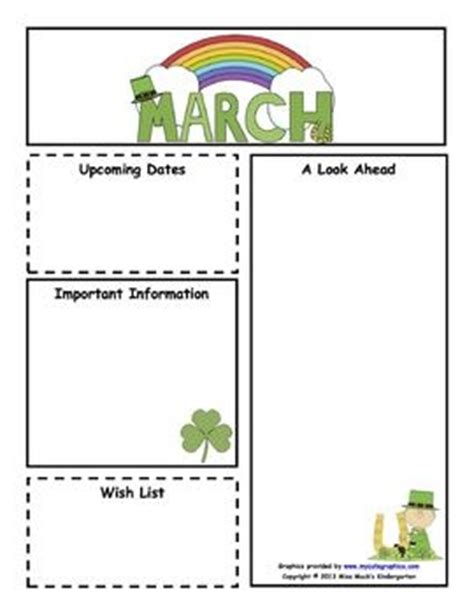 march newsletter template free 17 best images about newsletter templates on