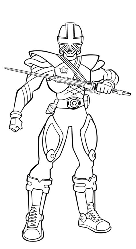 ninja power rangers coloring pages printable power rangers samurai picture to color