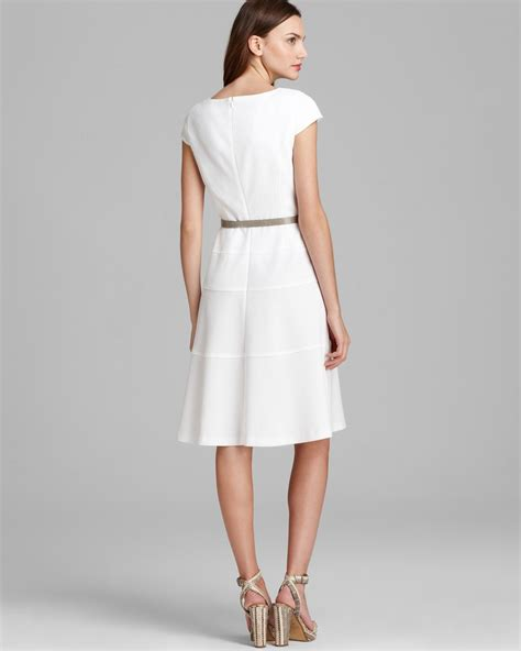 anne klein swing dress anne klein swing dress cap sleeve in white lyst