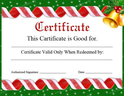 printable christmas certificates 9 best images of make your own certificate free printable