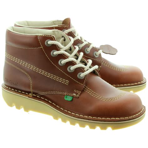 sneaker boots for kickers leather kick hi mens lace ankle boots in