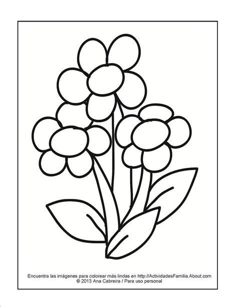 imagenes infantiles para colorear de flores dibujos de flores para colorear
