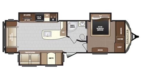 sprinter travel trailer floor plans 2018 keystone sprinter limited 319mks cer ebay