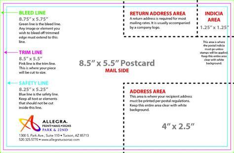 8 5 x 5 5 template artwork templates allegra print mail signs