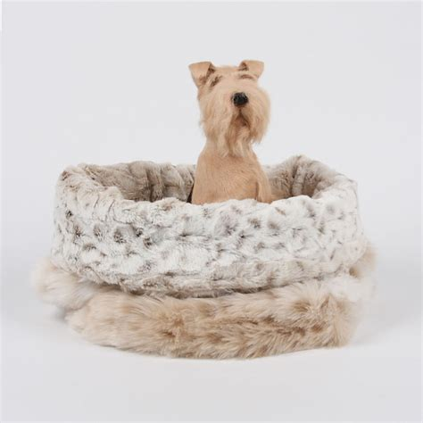 cuddle cup dog bed snow leopard cuddle cup dog bed by susan lanci designs