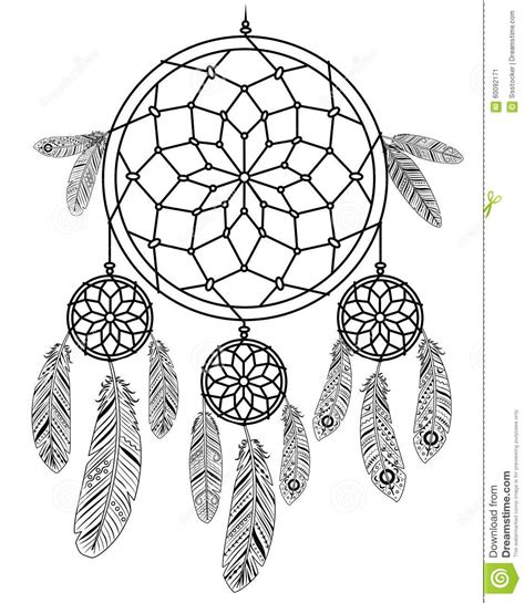 dreamcatcher stock vector image of handmade aztec