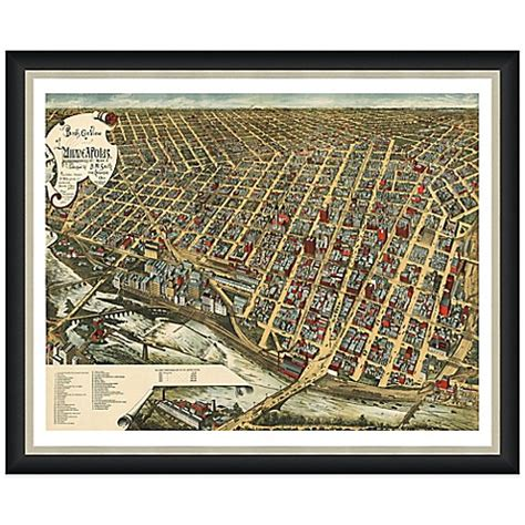 bed bath and beyond minneapolis buy framed minneapolis mn map wall d 233 cor from bed bath