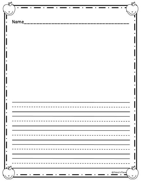 free printable lined paper with picture box free printable kindergarten writing paper with picture box