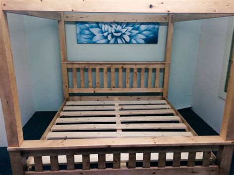 Pine Four Poster Bed Frame 4ft6 Bed Frame Solid Pine All Sizes Available Hardwick Four Poster Ebay