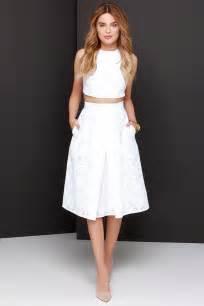 chic ivory dress two piece dress midi dress 78 00