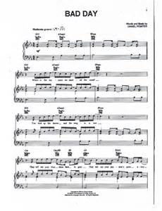 Bad Day Chords Bad Day Chords Piano Sheet