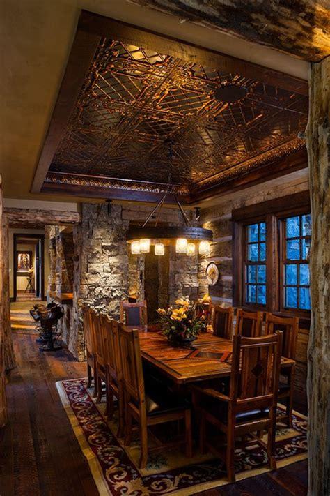 west inspired luxury rustic log cabin  big sky