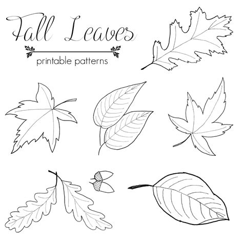 printable fall leaf shapes top posts for 2014 just paint it blog