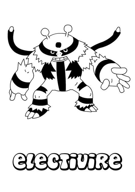 pokemon coloring pages electivire electivire coloring pages hellokids com