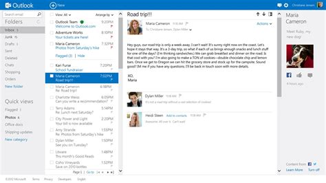beautiful mail introducing outlook com modern email for the next