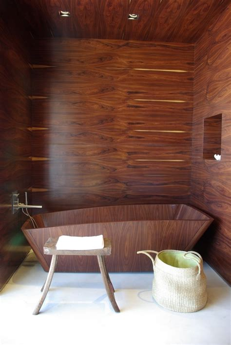 wood bathrooms 45 stylish and cozy wooden bathroom designs digsdigs
