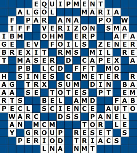 resistor unit crossword resistor unit crossword clue 28 images engineering science crossword puzzle october 31 2010