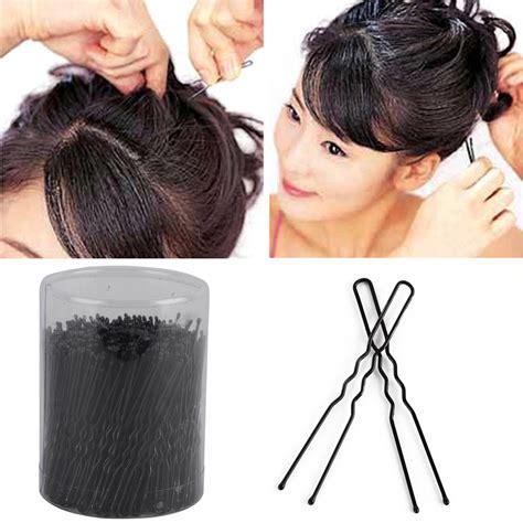 Mapepe Hair Clip Black 2 Pcs 300 pcs new u shaped clip hair pins hair clip hair styling