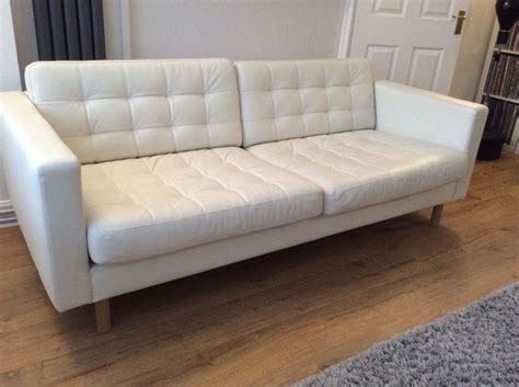 diy leather sofa ikea landskrona 3 seat white leather sofa white leather