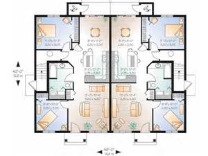 house layout plans eplans new american house plan four unit multiplex with identical floor plans 3808 square