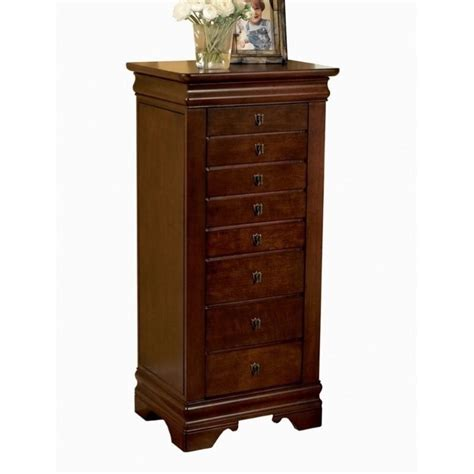 cherry armoire powell furniture louis philippe marquis cherry jewelry armoire 508 315