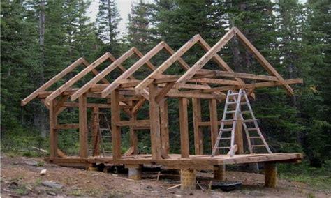 post  beam cabin kit small timber frame cabin plans