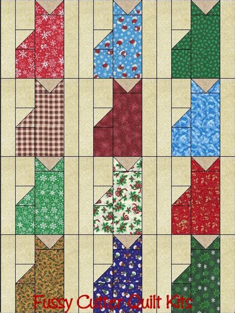 Free Patchwork Blocks - cats grab bag fabric fast easy