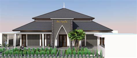 desain bangunan mushola konsep desain masjid modern minimalis di jakarta