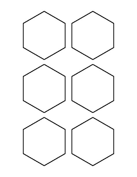 hexagonal template 3 inch hexagon pattern use the printable outline for