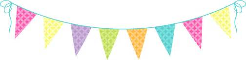 Bunting clip art cake ideas and designs