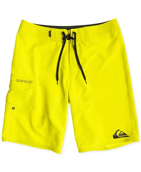 Quik Silver Brow Yellow lyst quiksilver everyday 21 quot board shorts in yellow for