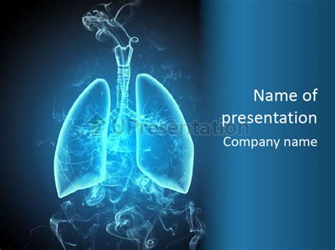 powerpoint themes lungs schematic illustration of human lungs powerpoint template