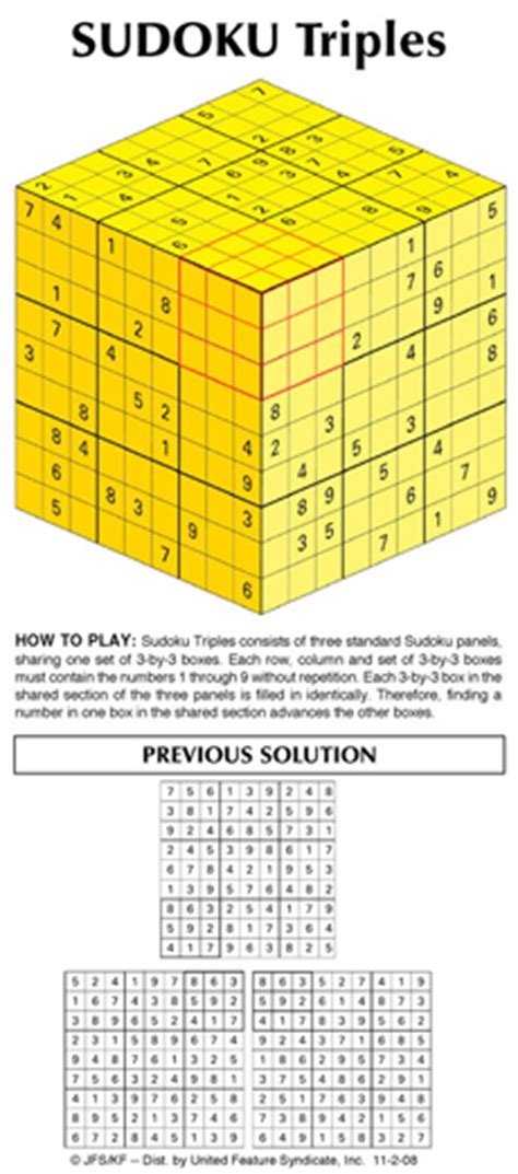 free printable triple sudoku andrews mcmeel syndication home