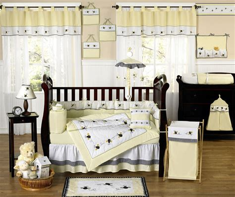 nursery bedding sets unisex boutique luxury yellow bumblebee discount designer unisex baby crib bedding set ebay
