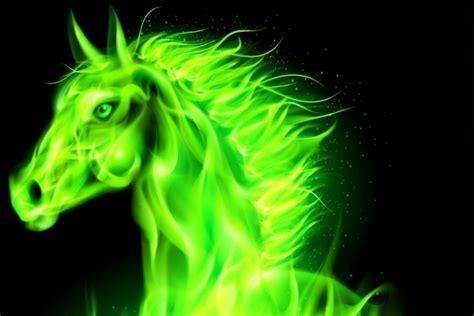imagenes en 3d verdes caballo 3d de color verde 50092