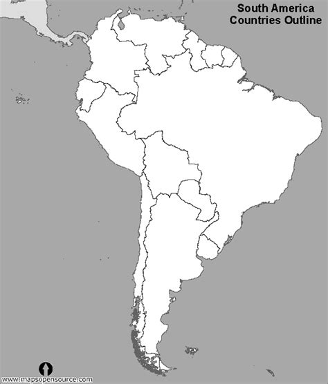 South And America Map Outline by Blank Map South America Zoo