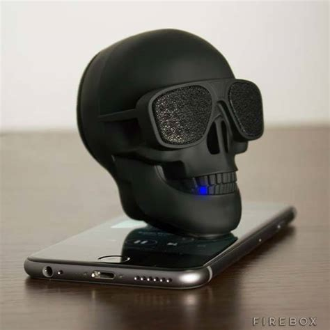 coolest speakers aeroskull is a skull shaped ultra portable bluetooth