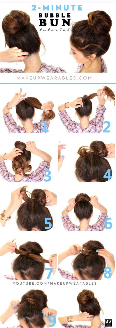 different updo hairstyles 2 minute bubble bun hairstyle 2 minute bubble bun hairstyle lazy hairstyles hair