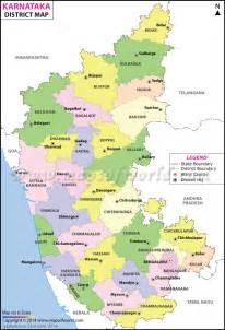 Karnataka District Map Outline by Karnataka Map Districts In Karnataka