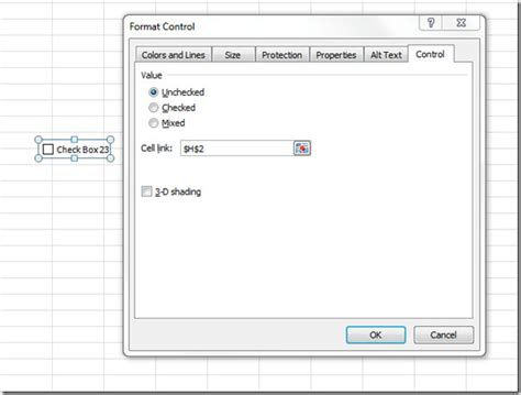 format excel cell as checkbox insert checkboxes in excel 2010