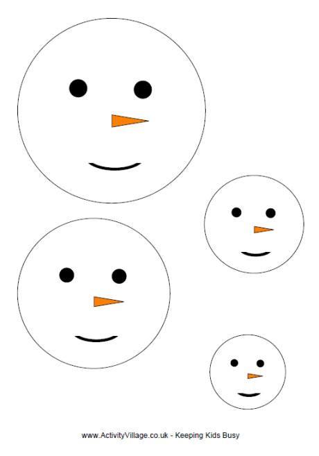 cute snowman face template images