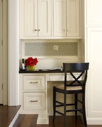 Small Kitchen Desks Built In Desk Design Ideas