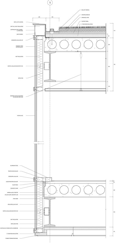 glass floor section best 25 curtain wall detail ideas on pinterest wall