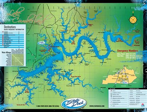 kentucky lake map pdf maps lake cumberland state dock