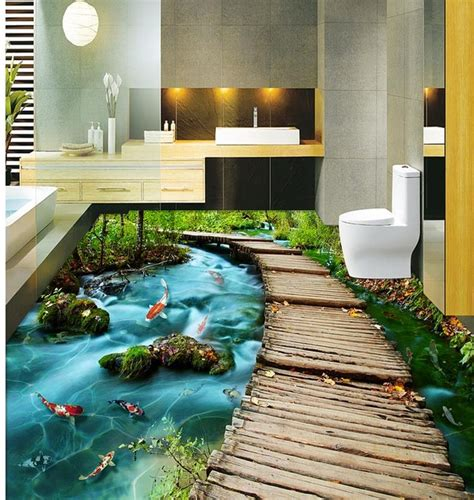 3d bathroom floor art mind blowing 3d flooring tiles ideas for relaxing 3d floor