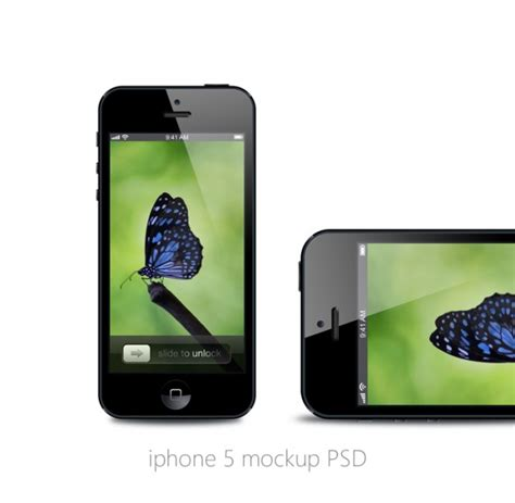 Iphone Design Vorlage Iphone Mockup Bildschirm Mit Schmetterling Vektor