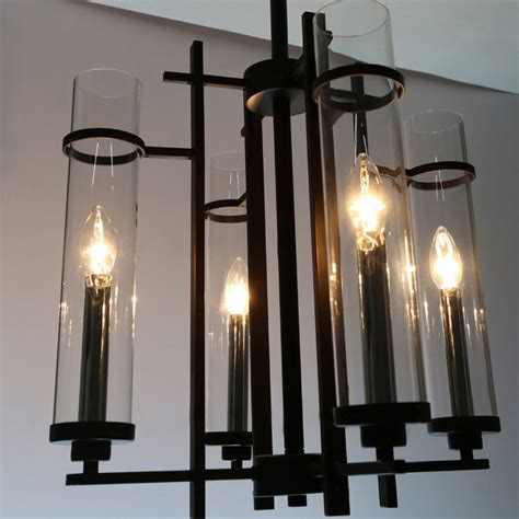 Black Metal Chandelier Black Metal Modern Clear Glass Shades And Black Metal Chandelier Modern Chandeliers New York By