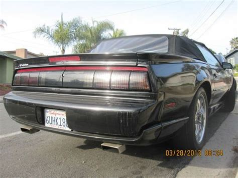 how do i learn about cars 1992 pontiac sunbird electronic valve timing purchase used 3 days no reserve 1992 pontiac trans am convertible rare 1 of 663 triple black in